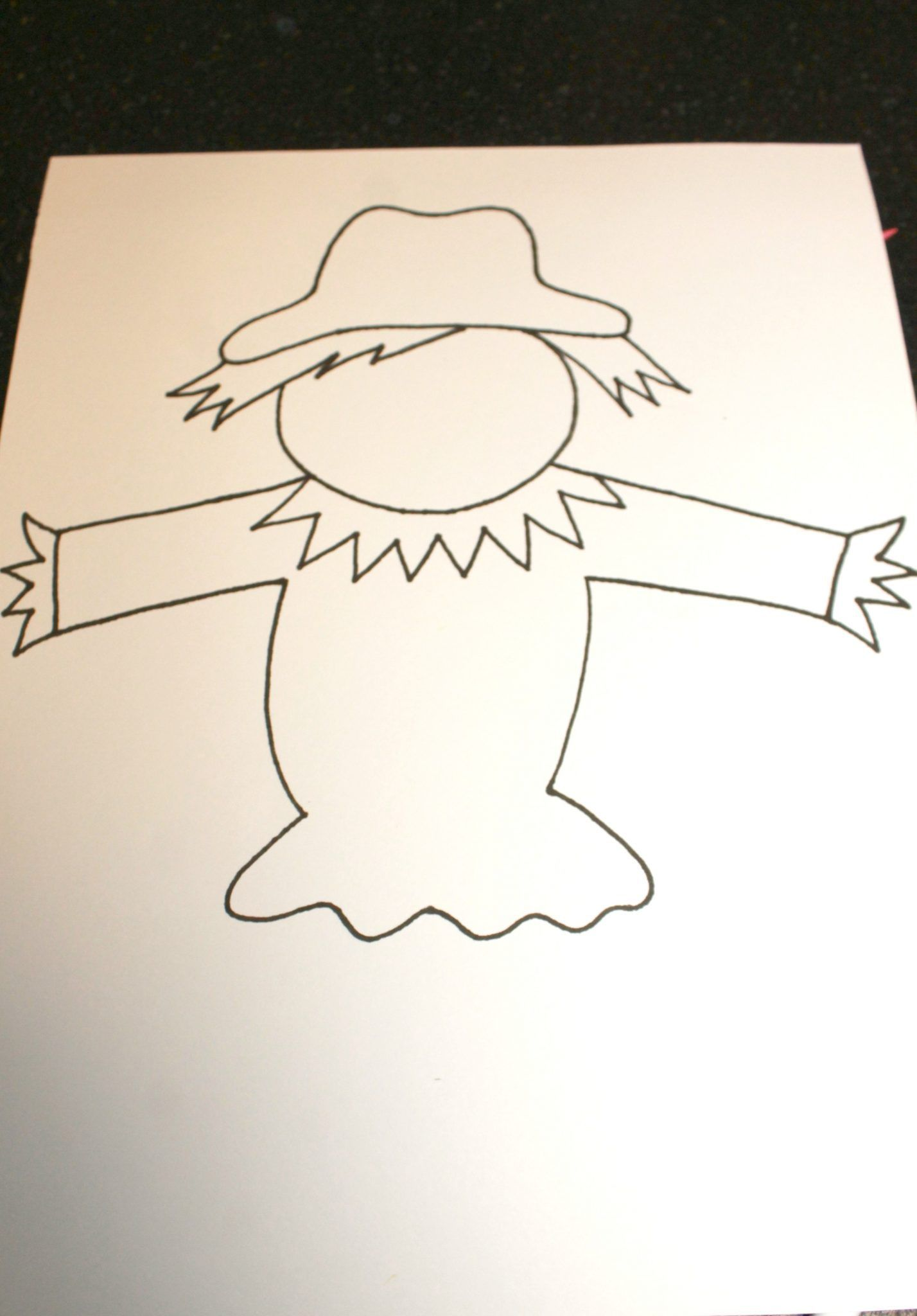 Black Glue Scarecrow Puppets Scarecrow Crafts Templates