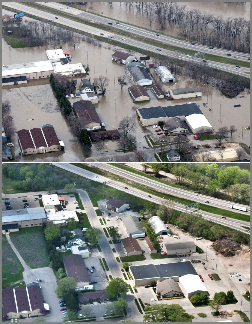 10 Dramatic Before And After Flood Photos Aerial Photos Taken