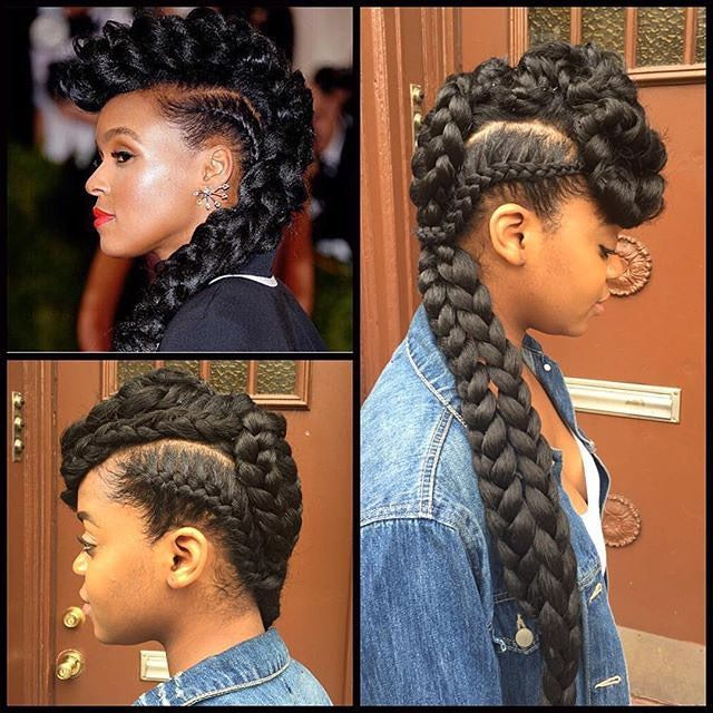 Protective Natural Hair Styles On Instagram By Coiffed By Dinah Janelle Monae Inspire Natural Hair Styles Hair Styles Protective Hairstyles For Natural Hair