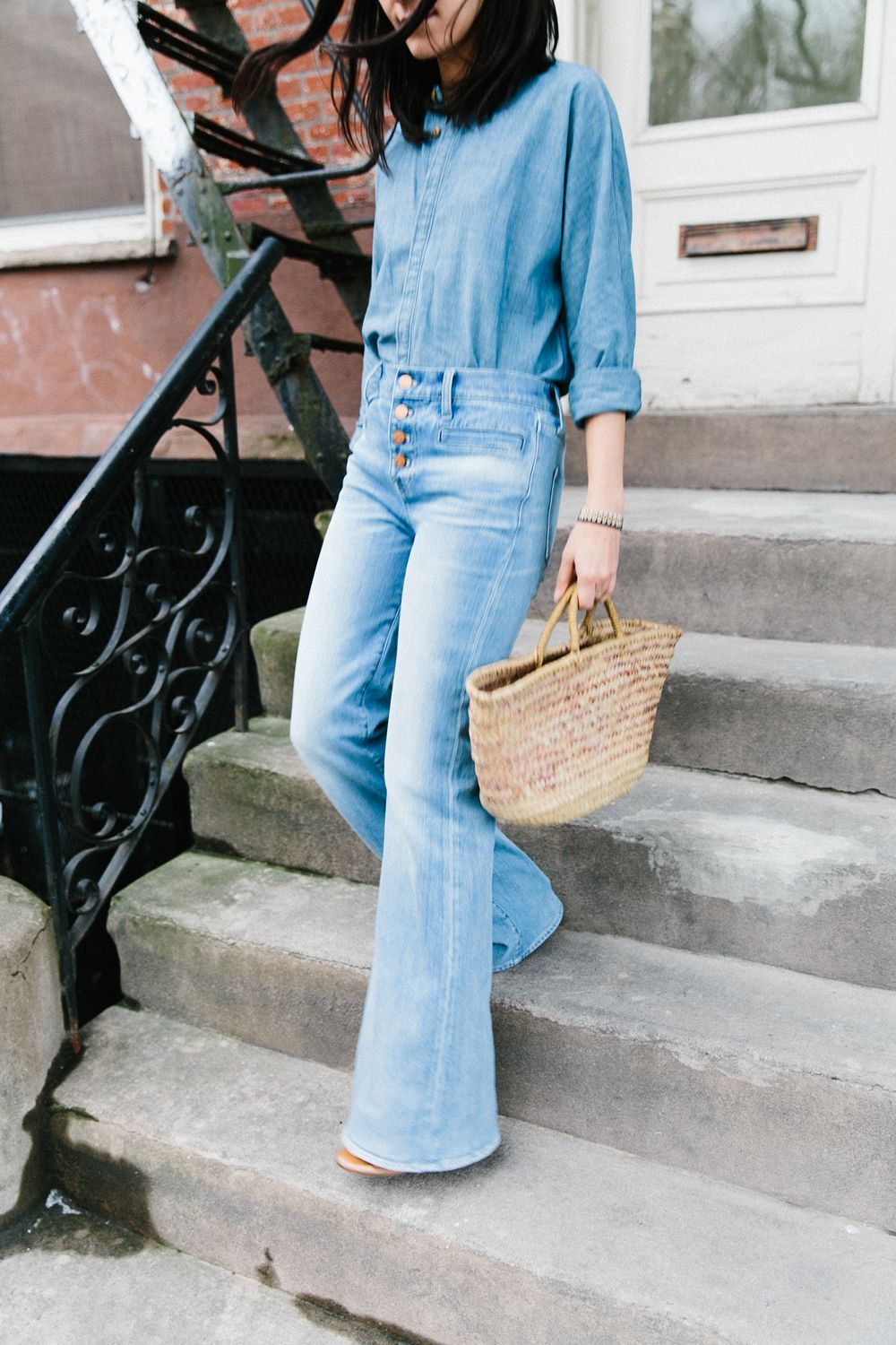 How to Wear Flare Jeans | Denim on denim, Jean outfits and Style