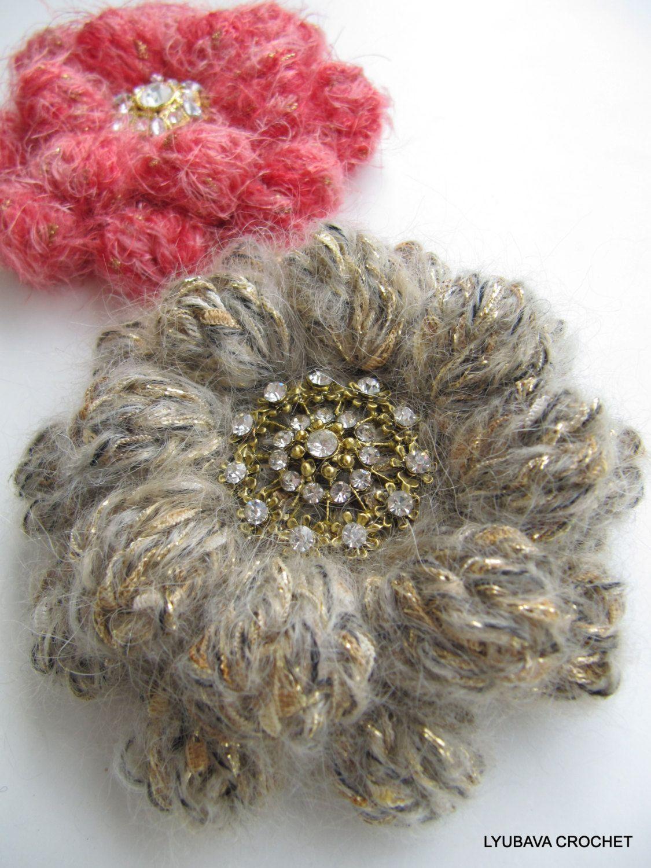 Unique crochet brooch crochet flower mohair brooch crochet puff unique crochet brooch crochet flower mohair brooch crochet puff stitch flower beautiful crochet izmirmasajfo