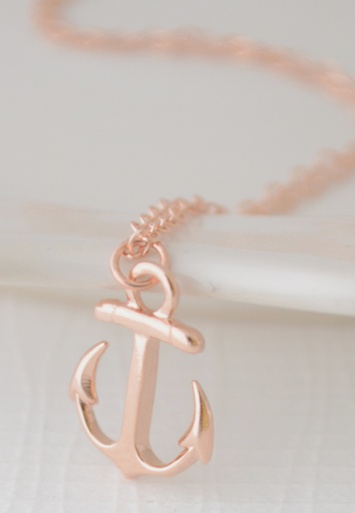 Rose gold anchor necklace Jewelry Design Pinterest Anchor
