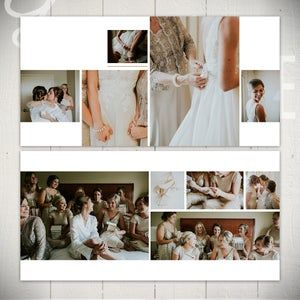 Wedding Album Template: Infinite - 10x10 Wedding or Engagement Book Template for Photoshop