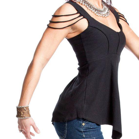 Aphrodite Tank Top - pointed bottom, elven, rocker, dance, hooping