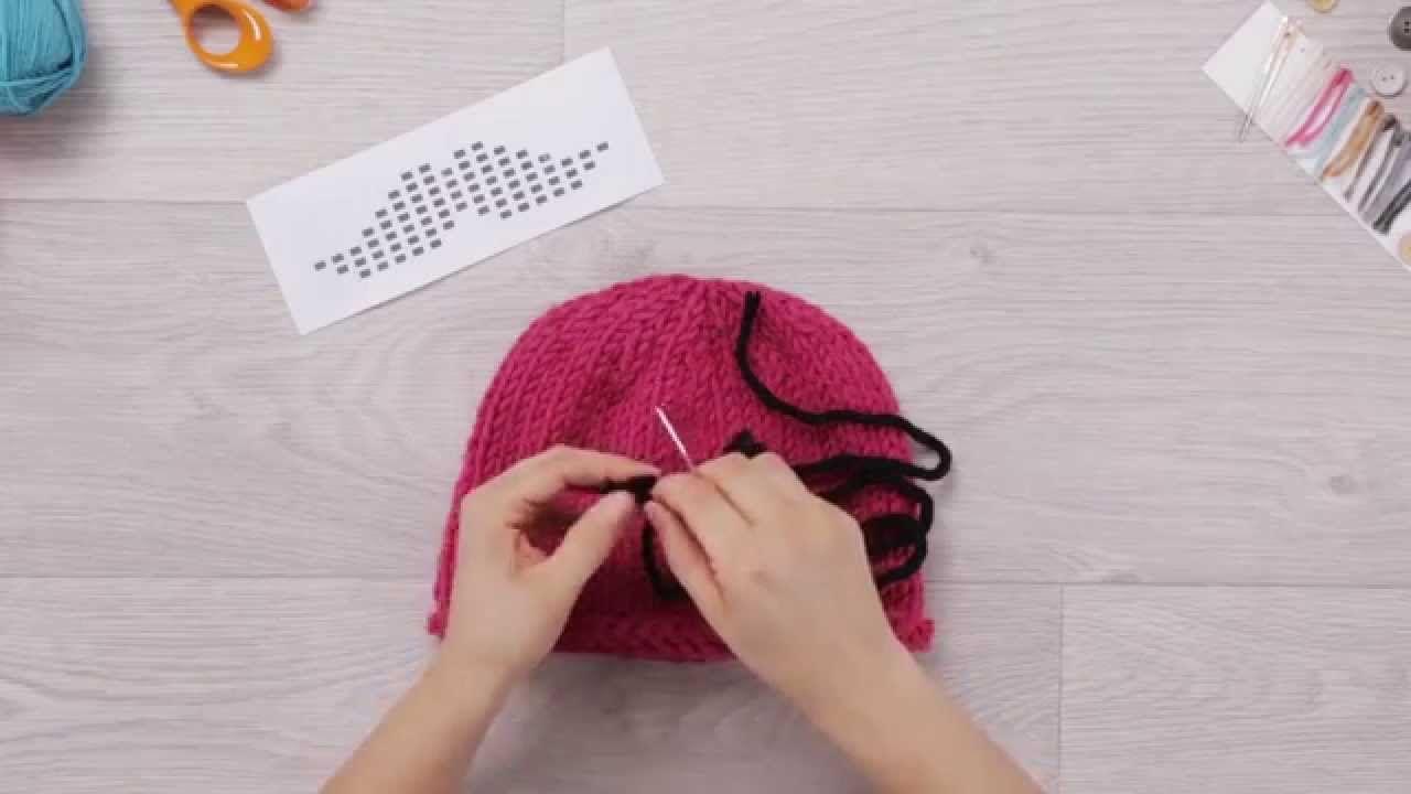 phildar au tricot diy faire une broderie sur un. Black Bedroom Furniture Sets. Home Design Ideas