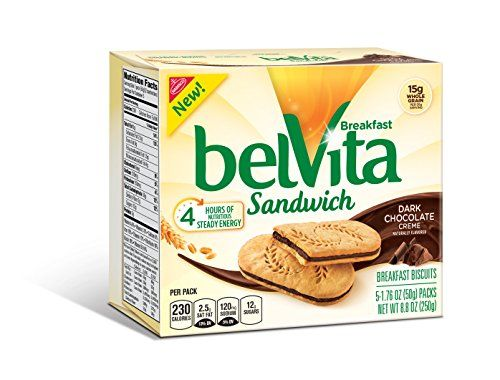 Start your day right with wholesome belVita Breakfast Biscuits. These lightly sweet crunchy sandwich biscuits are made with high-quality wholesome ingredients. Cooked carefully to provide the most nu...