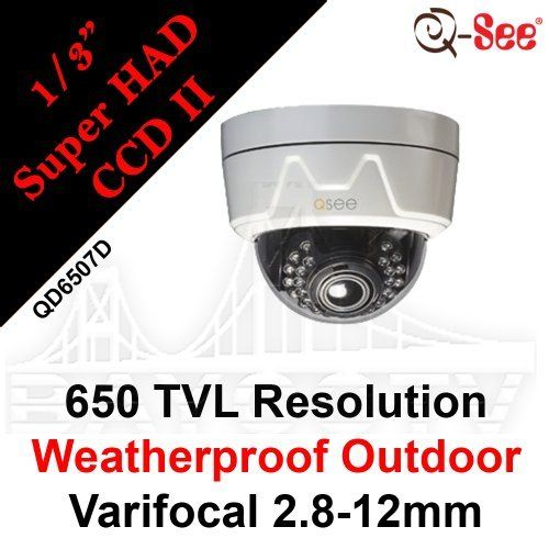 Q-SEE CCD SECURITY COLOR CAMERA NIGHT VISION INDOOR//OUTDOOR Sony Image Sensor
