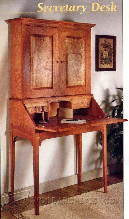 Secretary Desk Plans Furniture Plans And Projects Woodarchivist Com Building Furniture Plans Desk Plans Furniture Plans