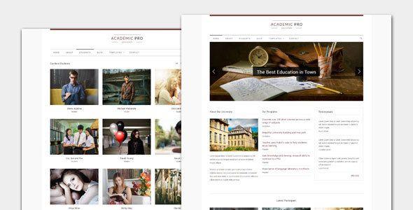 Academic - Modern Education WordPress Theme | Wordpress, Template ...
