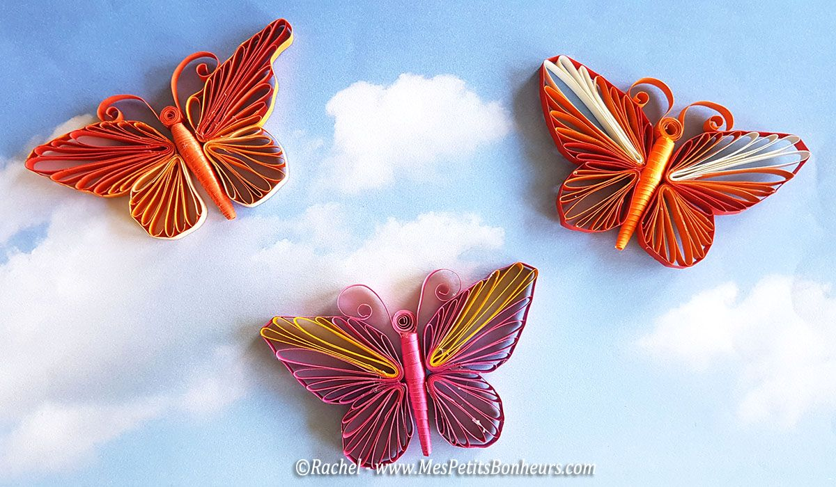 Mod le de papillon en quilling gabarit et tuto vid o quilling - Modele de papillon ...