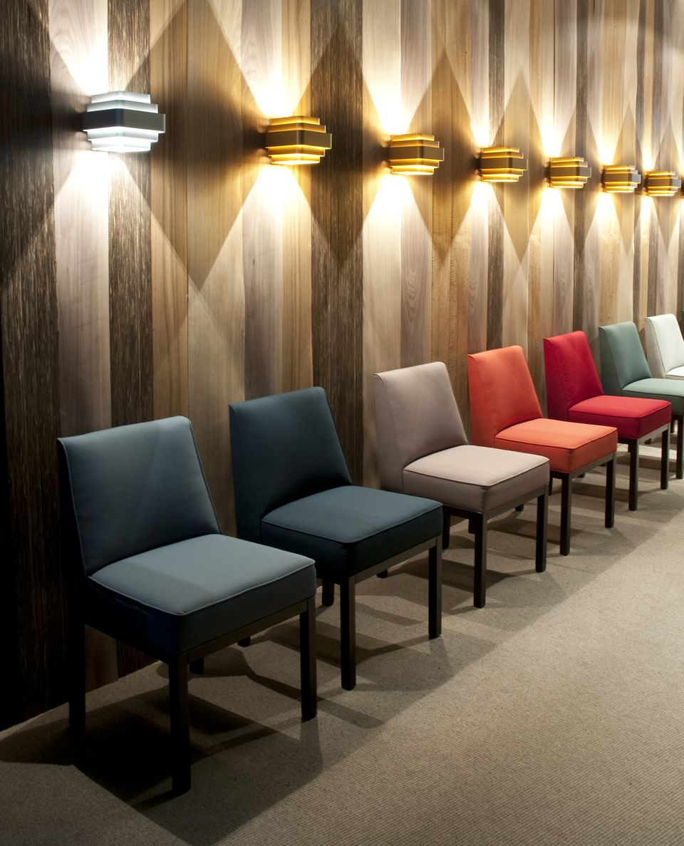 Office Public Seating Interior Design with Louise Chair by Jules Wabbes