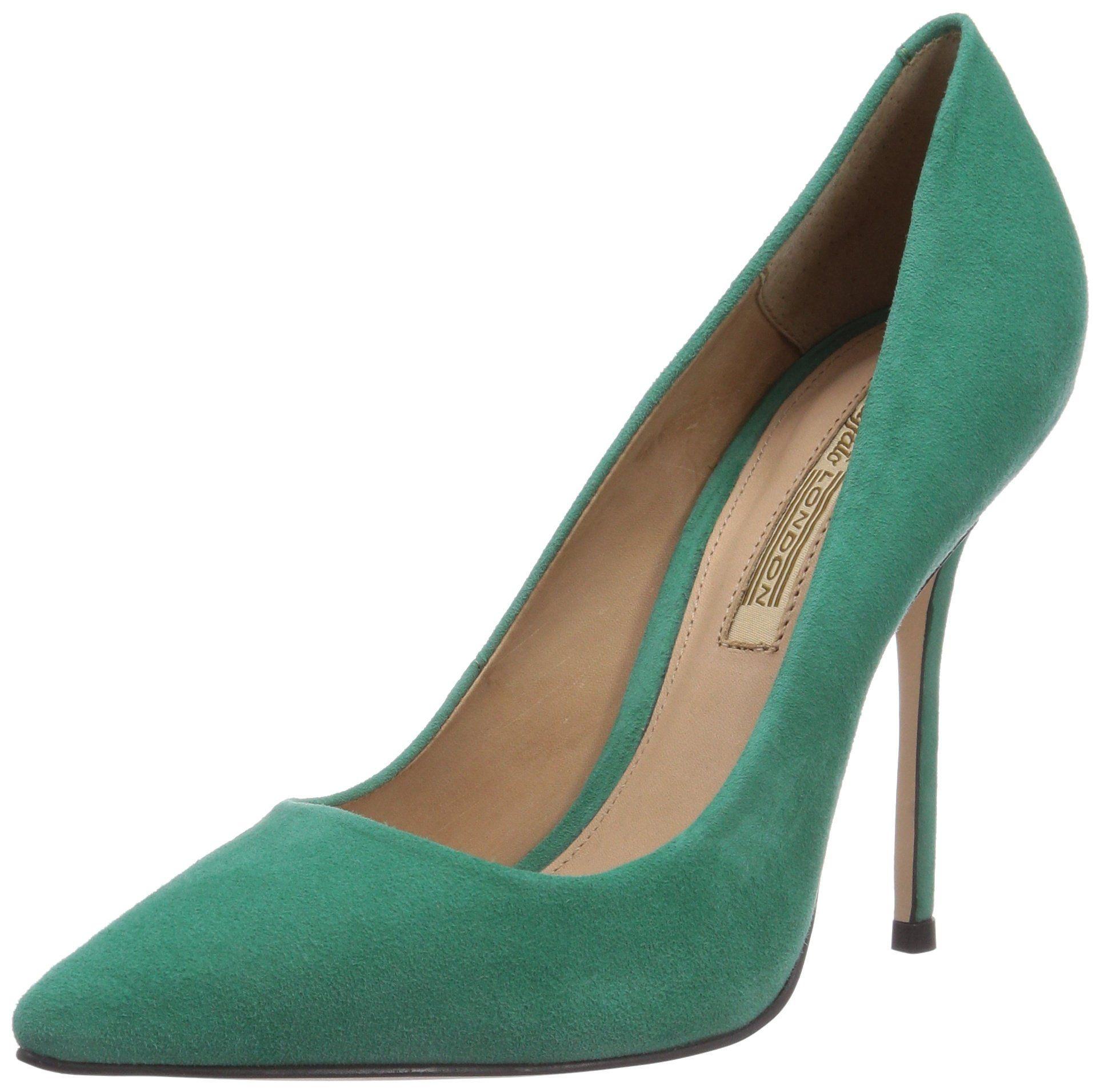 best sneakers d54f9 8917c Buffalo London 533X-090 KID SUEDE, Damen Pumps, Grün ...