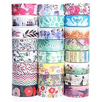 Decorative Masking Tape Collection.... Washi Masking Tape Set of 24