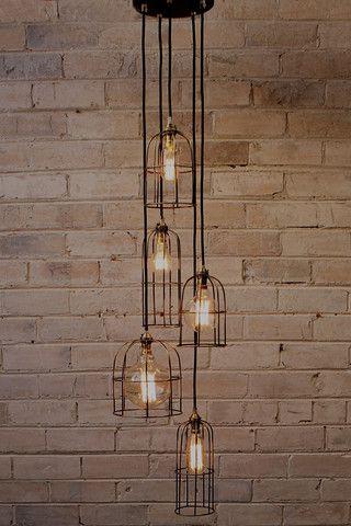 Cage Light Chandelier 5 Drop In 2020 Verlichting Hanglamp