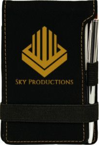 Leatherette Notepad with Pen