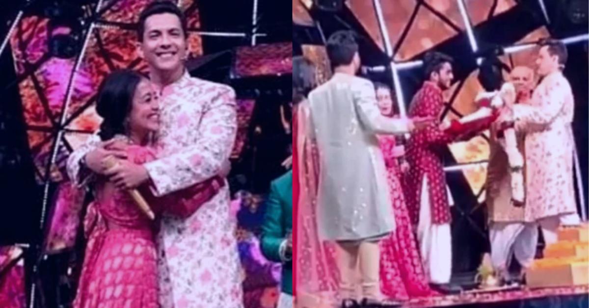 Neha Kakkar And Aditya Narayan Gets Married On The Sets Of Indian Idol 11 Video Goes Viral In 2020 Getting Married Indian Idol Wedding News