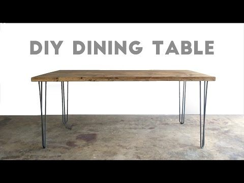 How To Build A Dining Table Modern Builds Ep 34 Youtube Modern Kitchen Tables Diy Dining Table Diy Dining