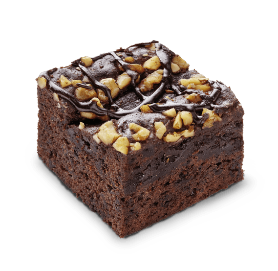 porcion de brownie