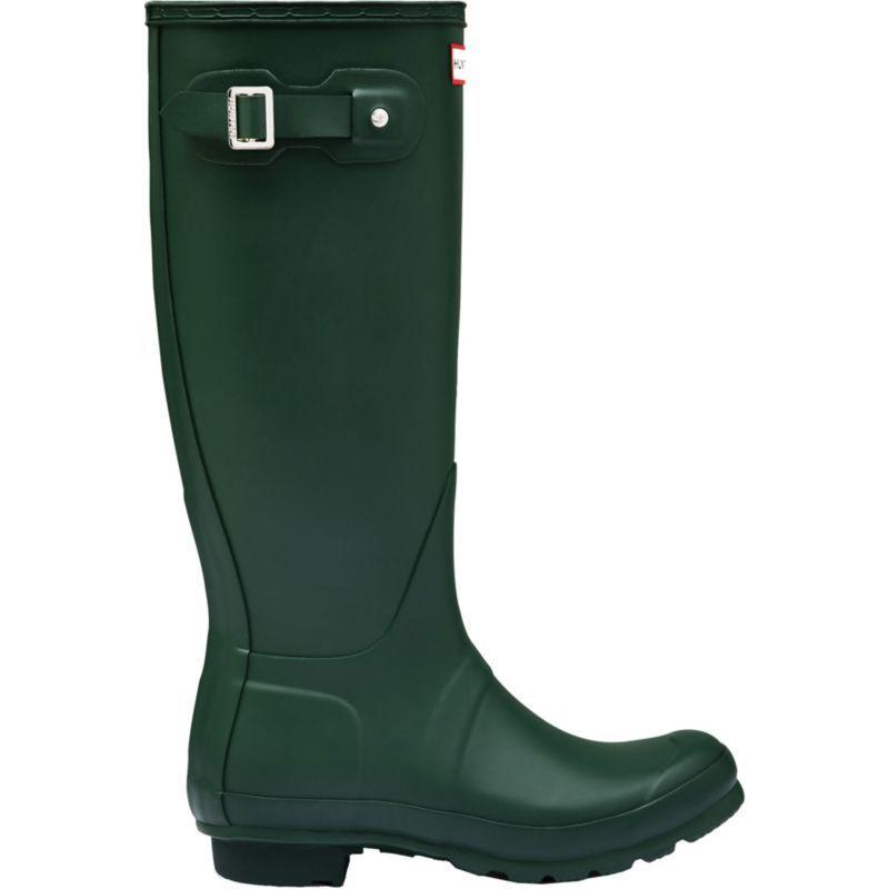 Hunter Boots Women's Original Tall Matte Rain Boots, Size: 11.0, Green