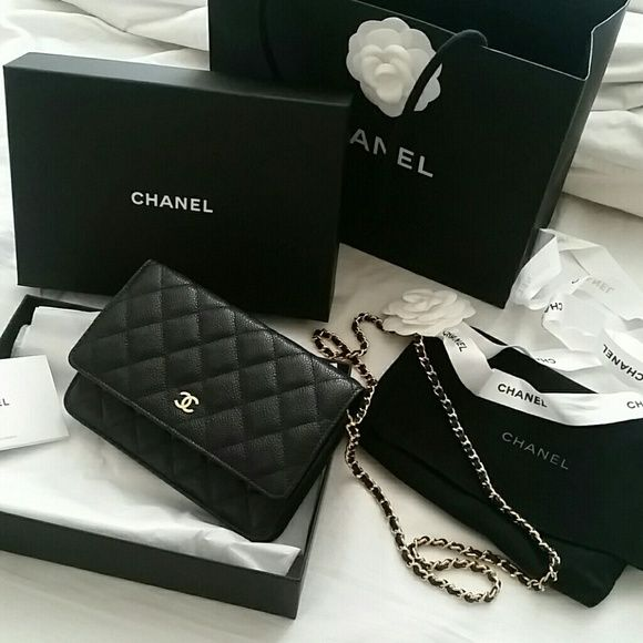 3e361222c97b Authentic Chanel Woc, Caviar, New with tag 2016, bought in March, want a  different design New with tag, dustbag, authenticity card and box Caviar  material ...