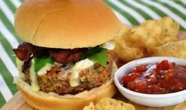 Chicken-Bacon and Brie Burger