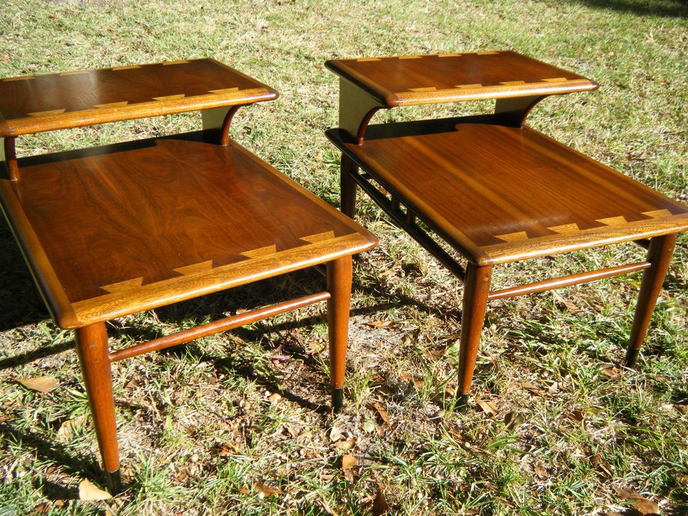 Lane Dove Tail 2 Tier End Tables