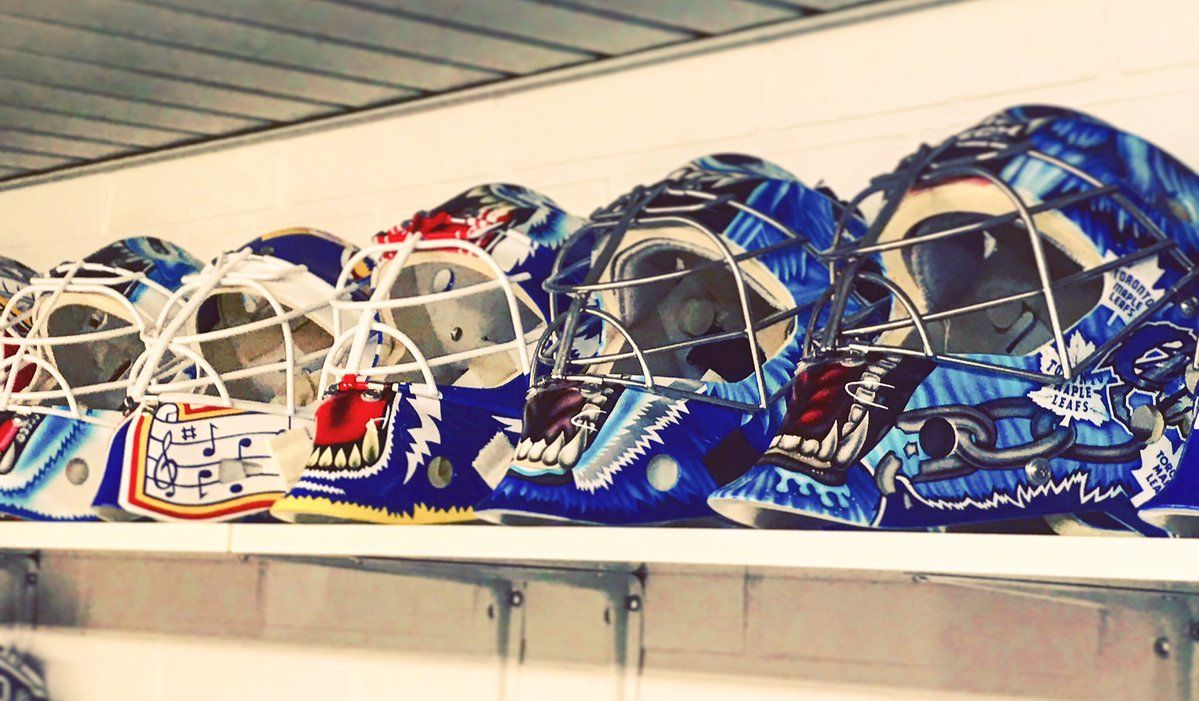 All Curtis Joseph masks St louis blues, Goalie mask