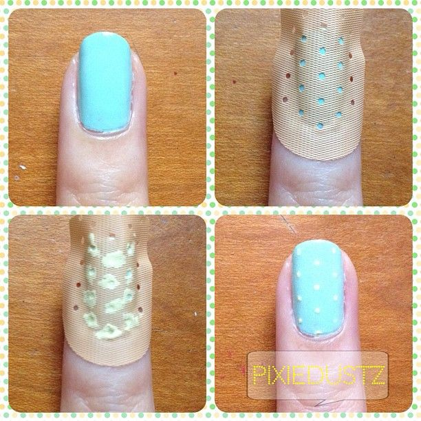 Easiest Nail Art Ever Tadaa A Band Aid For Polka Dots Beauty