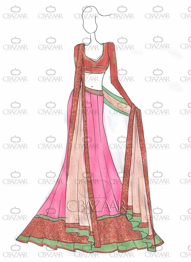 Try this pin 😃 | Indian dresses drawings | Pinterest