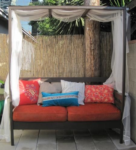 Outdoor daybed with canopy do it yourself home projects from ana outdoor daybed with canopy diy projects solutioingenieria Choice Image