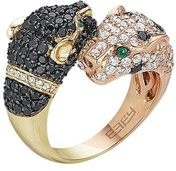 Effy Signature 14K Two Tone Gold Diamond and Emerald Ring 2 42