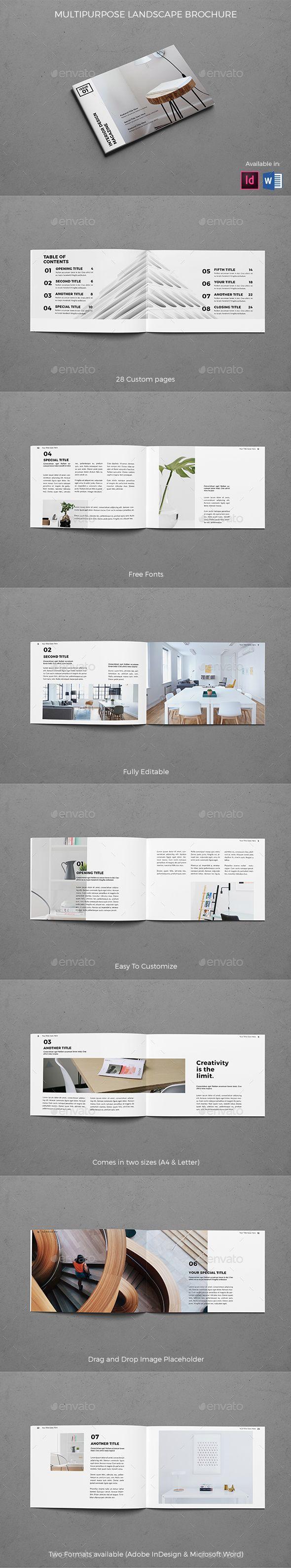 Modern Architecture Landscape Brochure - #Brochures Print #Templates ...