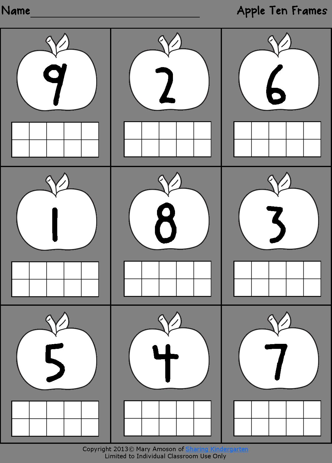 Sharing kindergarten a is for apple decoración y organización