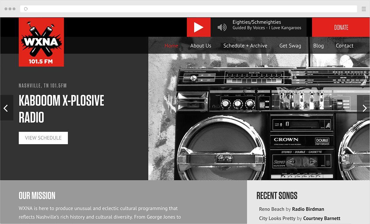Wxna Non Profit Community Supported Radio Radio Nonprofit Design Nashville