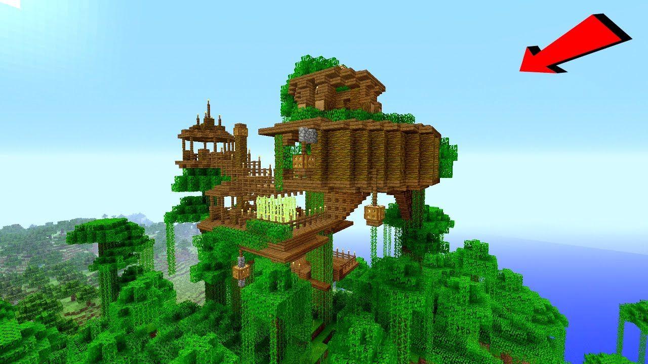 Minecraft How To Build A Jungle Village Treehouse Tutorial How To M Casas Minecraft Arquitectura Minecraft Creaciones De Minecraft