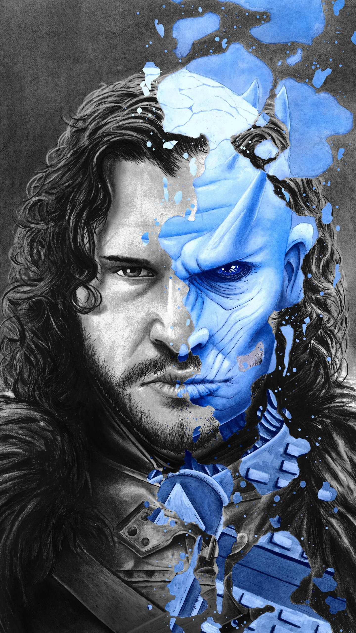 Game Of Thrones Wallpaper Jon Snow Night Kind Game Of Thrones Art Game Of Thrones Snow Illustration