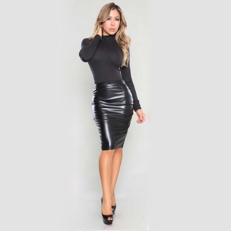 Чёрная юбка-карандаш (60 фото): с чем носить, с завышенной ...
