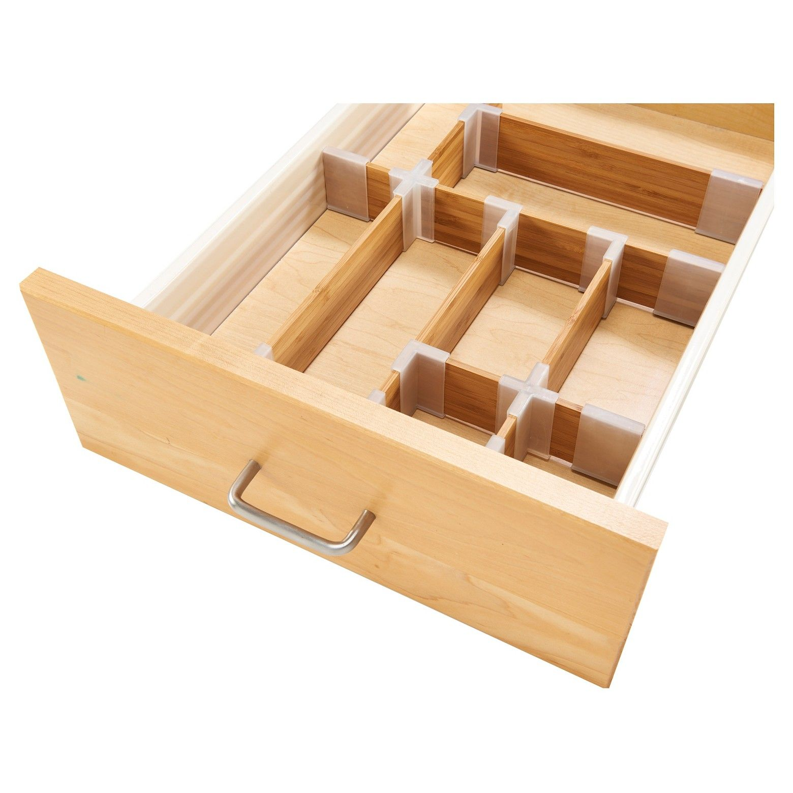 Sink caddy drawer organization kit bamboo green threshold the threshold bamboo drawer organizer provides a customizable build it yourself system for organizing solutioingenieria Image collections