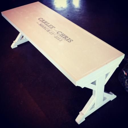 Wedding guest book bench from modified fancy x bench do it wedding guest book bench from modified fancy x bench do it yourself home projects from solutioingenieria Image collections