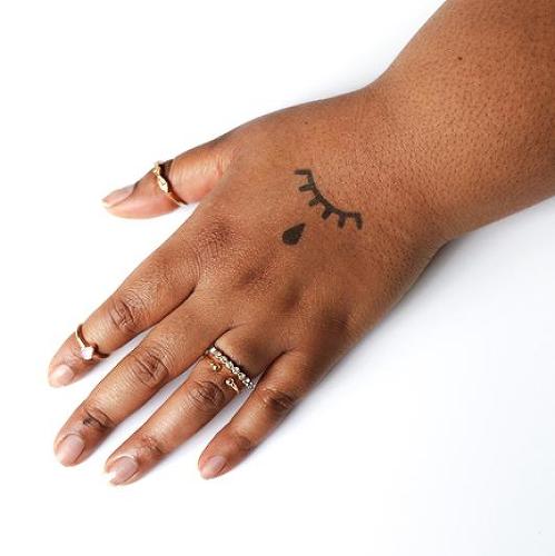 Lachryma Tattoo Semi Permanent Tattoos By Inkbox Finger Tattoos Teardrop Tattoo Eye Tattoo