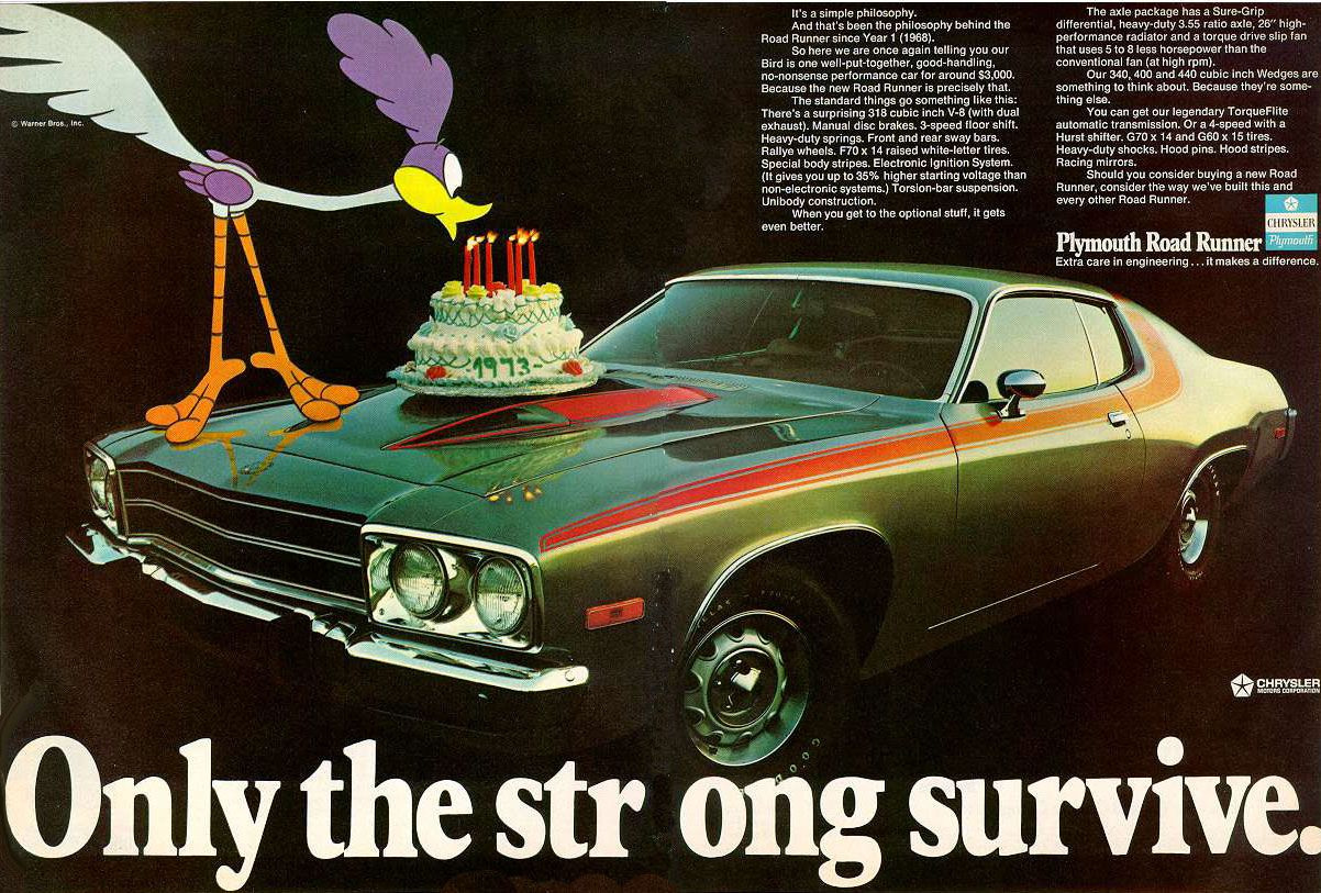 1973 plymouth road runner car ads mopar plymouth