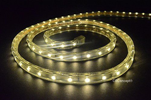 Cbconcept Ul Listed 65 Feet 7200 Lumen 6000k Pure White Dimmable 110 120v Ac Flexible Flat Led Strip Rope Light Led Rope Lights Rope Light Flexible Flats