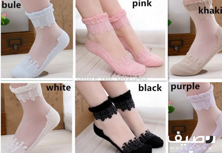 جوارب نسائية فاخرة تركية على شكل حذاء Socks Women Pink Socks Elastic Shorts