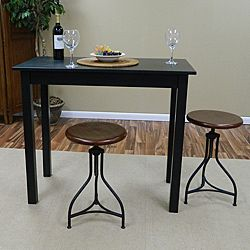 Exceptional Antique Black Pavina Pub Bar Table | Overstock.com Shopping   Big Discounts  On Bar