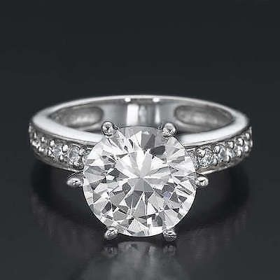 ROUND CUT 2.75 CARAT G/VVS BRIDAL DIAMOND ENGAGEMENT WHITE GOLD RING https://t.co/ZFid7DahCB https://t.co/gHCb4wF01T