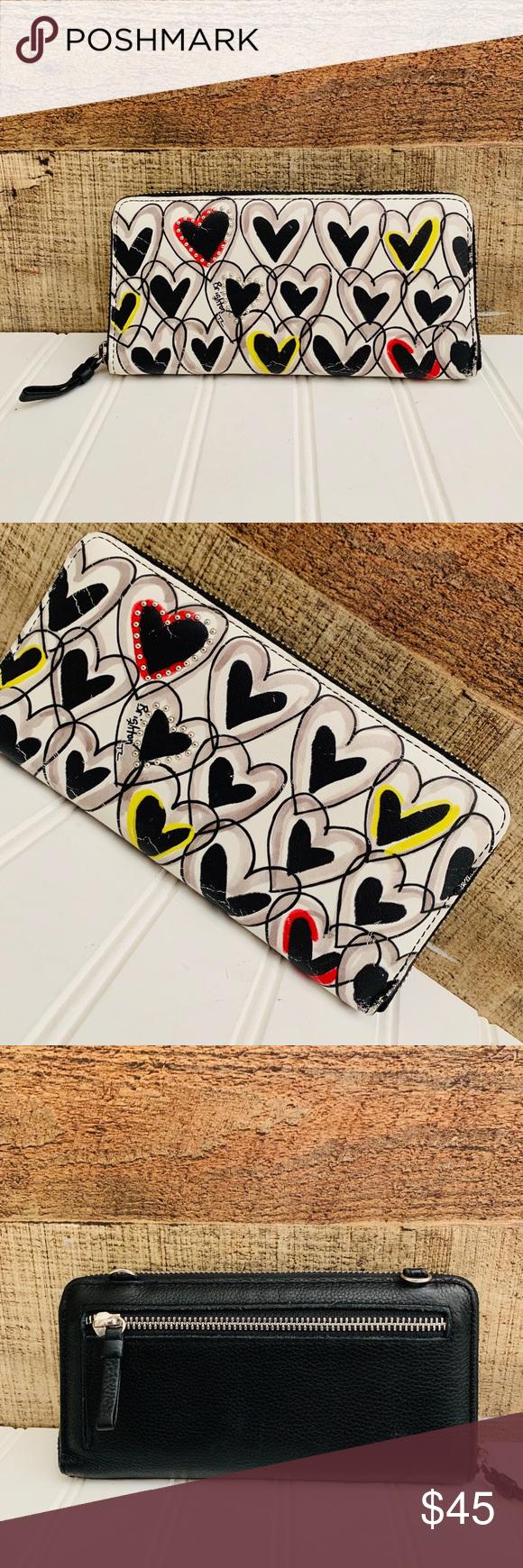 Brighton heart leather zip around wallet Pre loved Pet snd