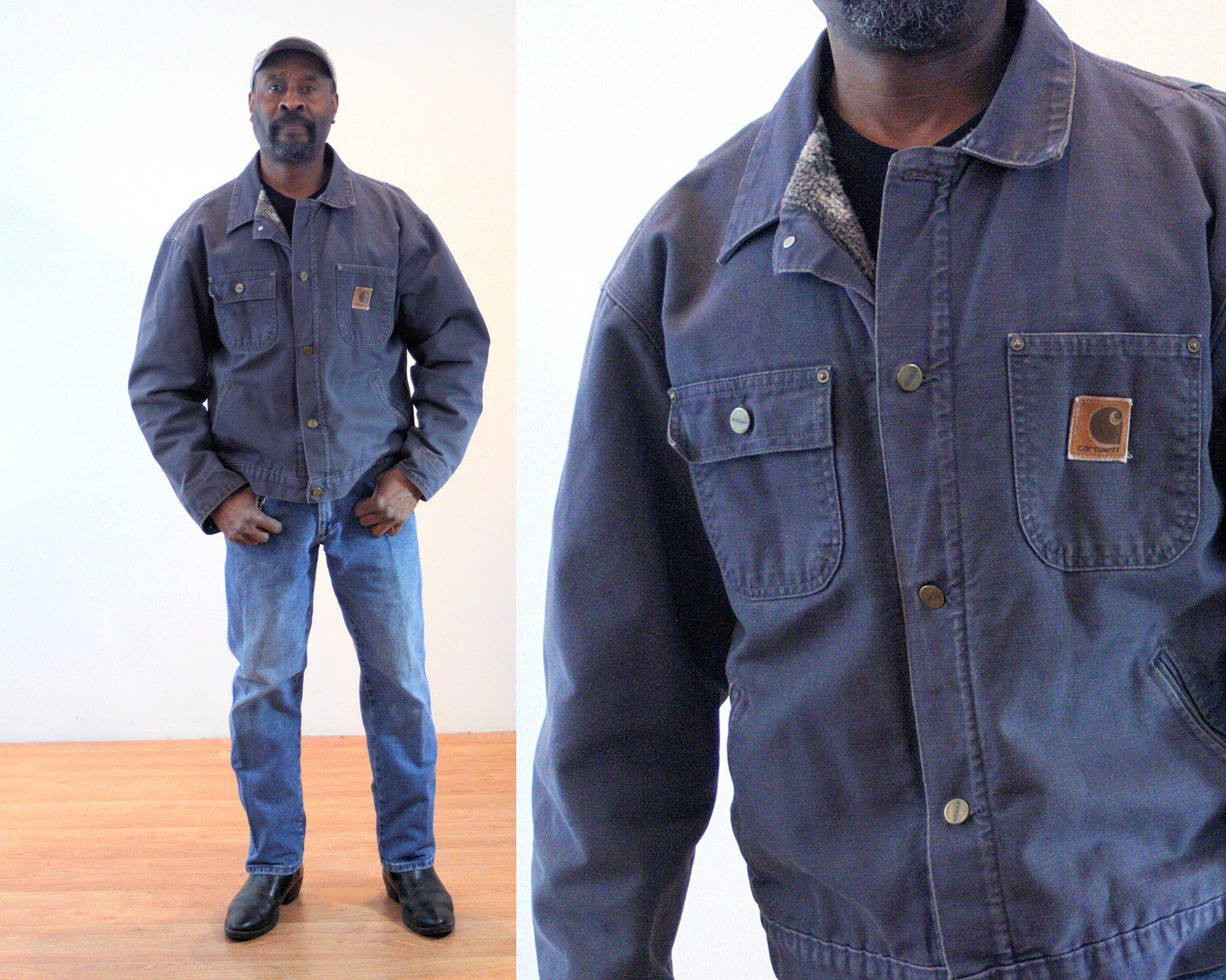 80s Carhartt Coat L Gray Fleece Lined Vintage Canvas Etsy Carhartt Jacket Jackets Carhartt [ 1440 x 1800 Pixel ]