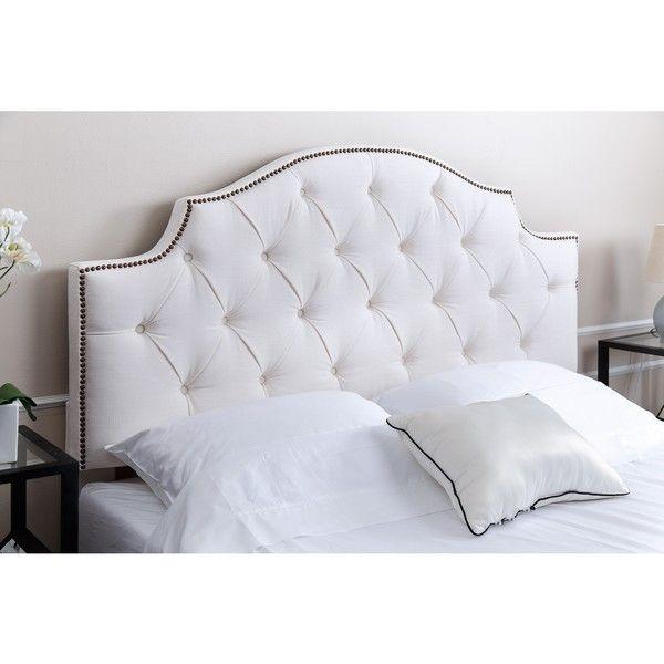 ABBYSON LIVING Royal Tufted White Queen/ Full Linen Headboard