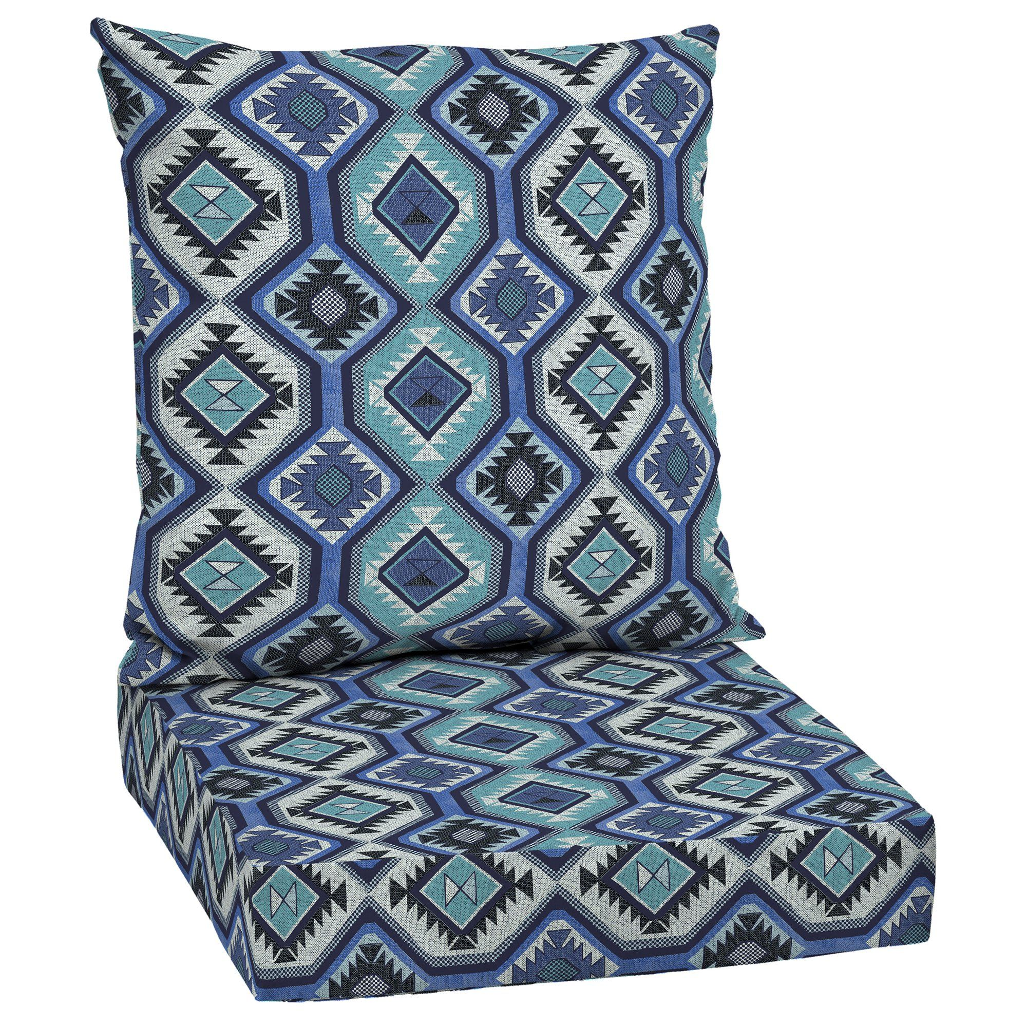 Mainstays Blue Southwest 48 x 24 in. Outdoor Deep Seat
