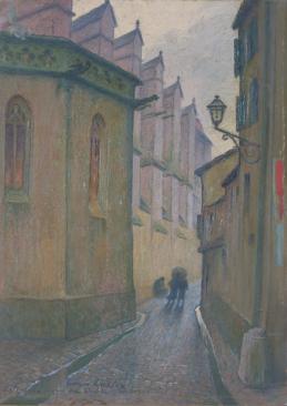 Georges CASTEX, (Collioure, 1860 - Toulouse, 1943), La rue des cloches à Toulouse, 1910, Inv. 49 6 161. Non exposée. © Musée des Augustins, Toulouse, photographie Bernard DELORME